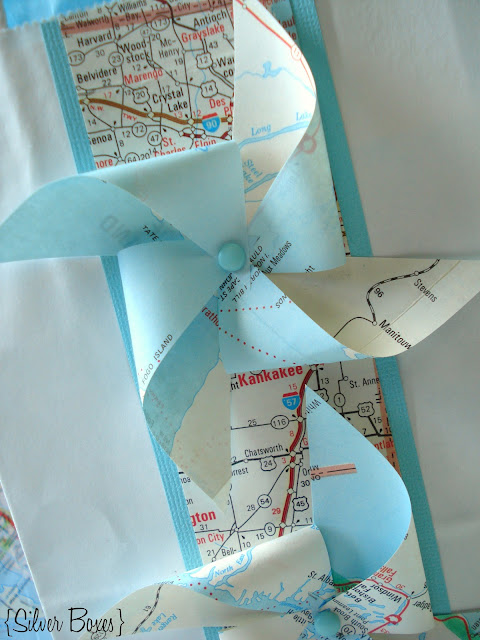 Silver Boxes: DIY Map Gift Bag