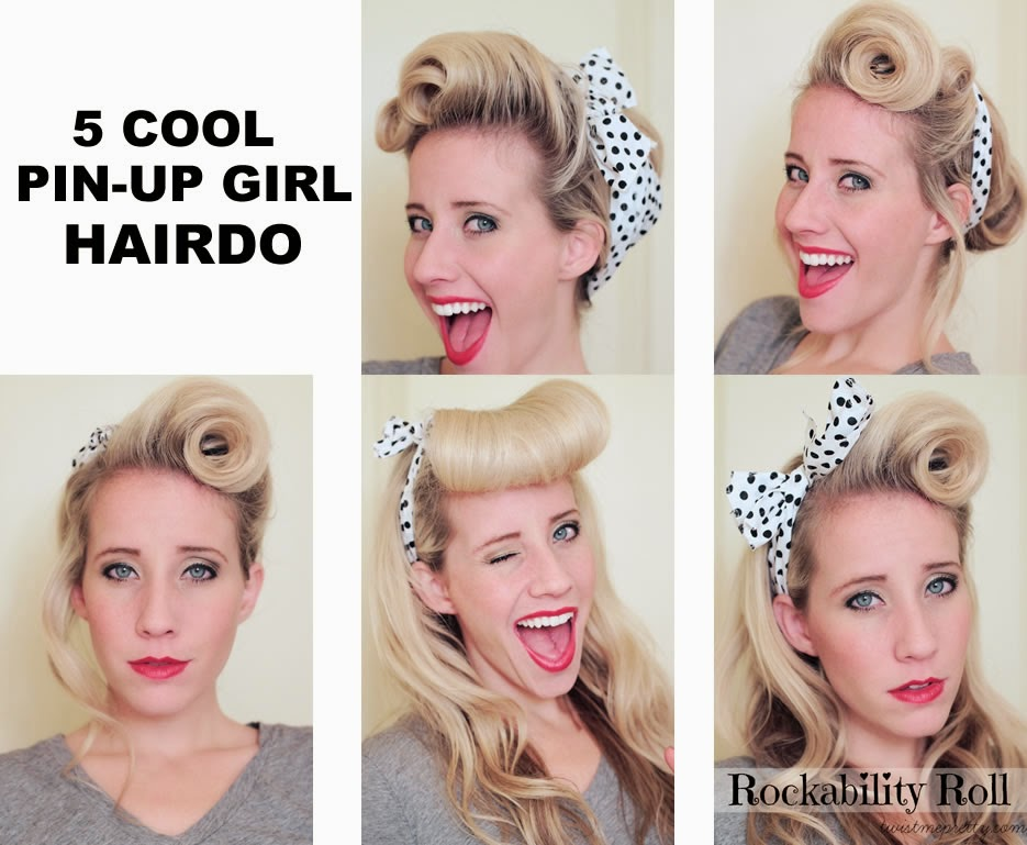 5 Cool Pin Up Girl Hairdo