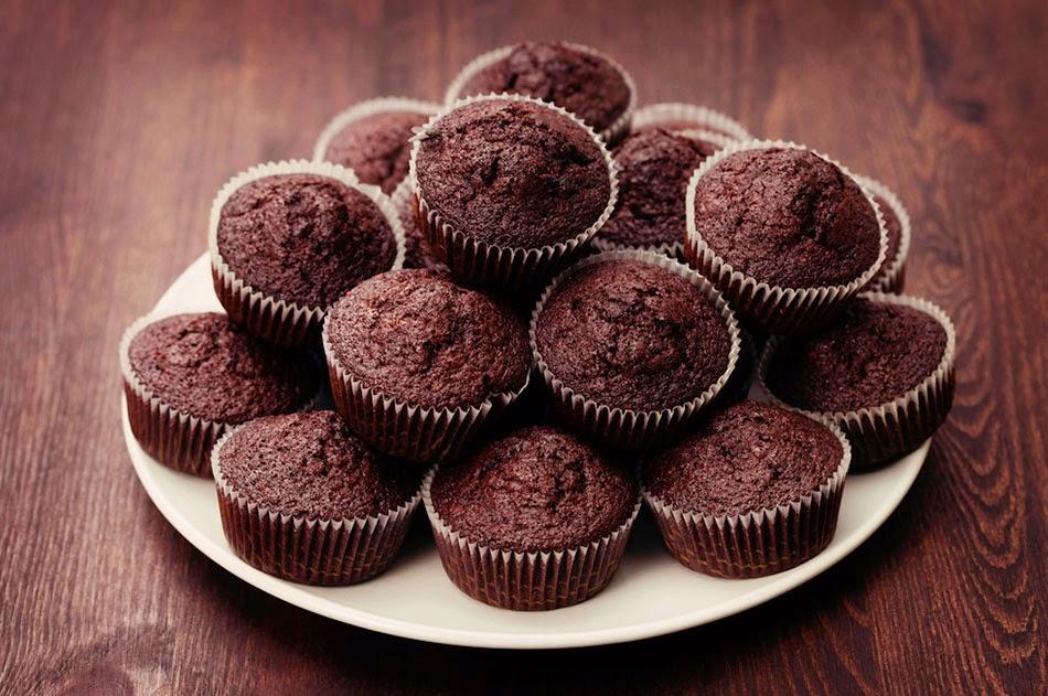 طريقة عمل الكب كيك بالشوكولاتة