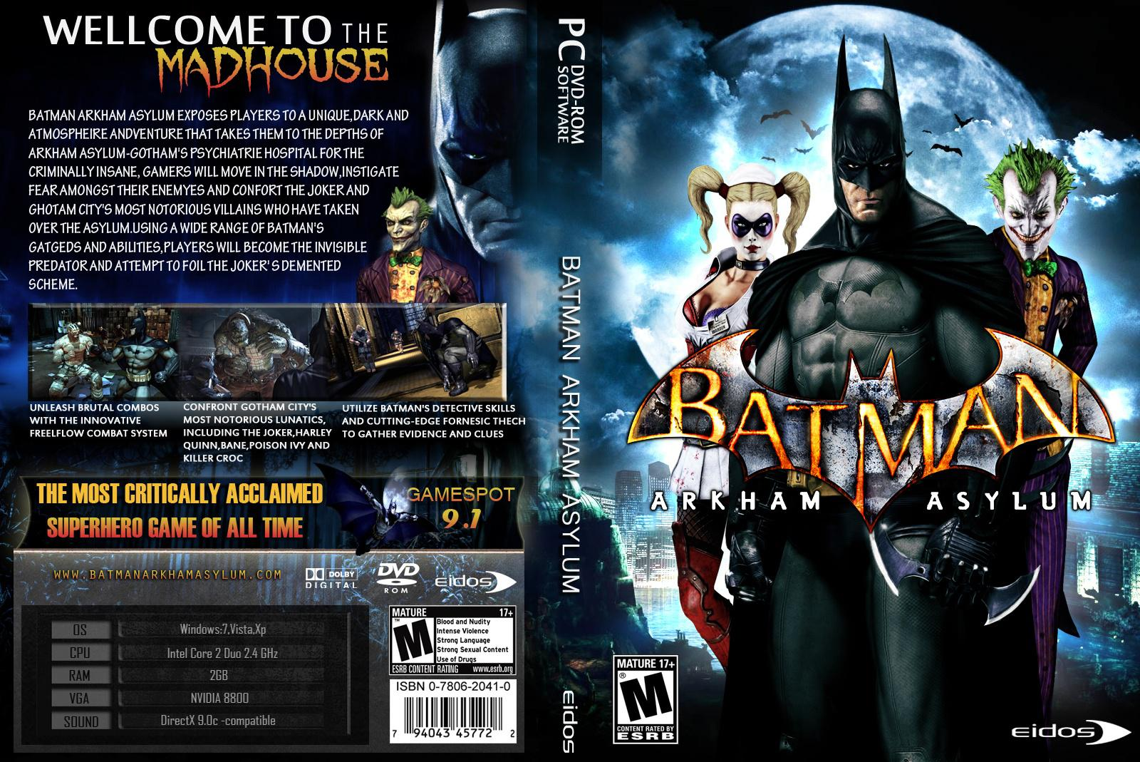 Batman arkham asylum crack free pc