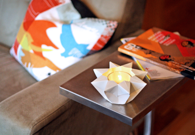 Make an origami star lantern How About Orange