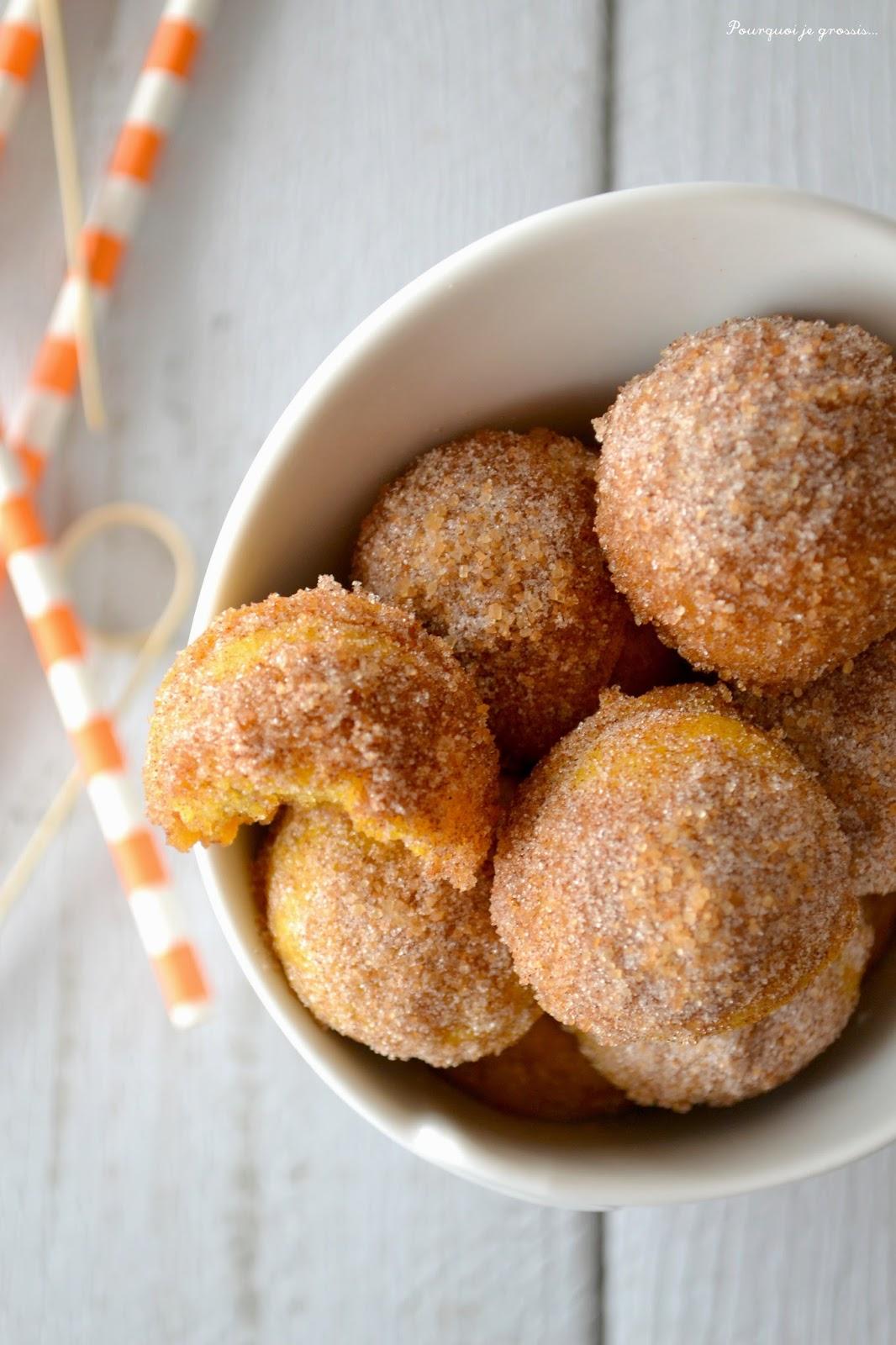 Pourquoi je grossis donut holes au potimarron aux for Pourquoi je grossis