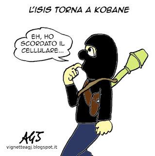 ISIS, kobane satira vignetta