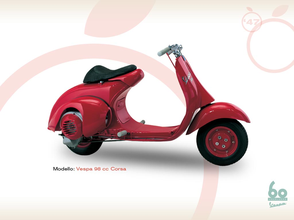 vespa 98 corsa 1947 vespa scooters. Black Bedroom Furniture Sets. Home Design Ideas