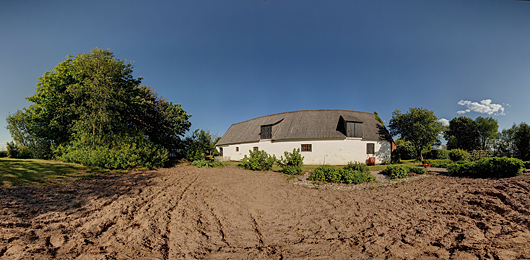 panoramic photograph of farm in Denmark
