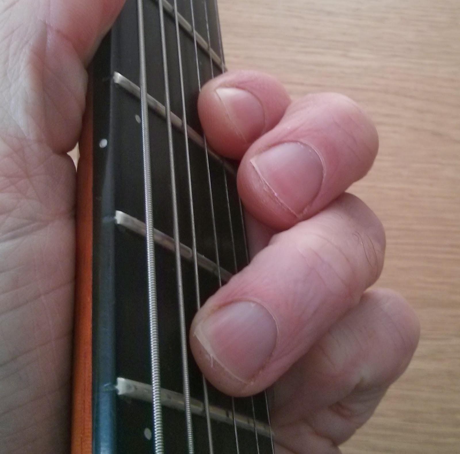 G min guitar chord  D Minor 7 Chord Guitar Finger Position