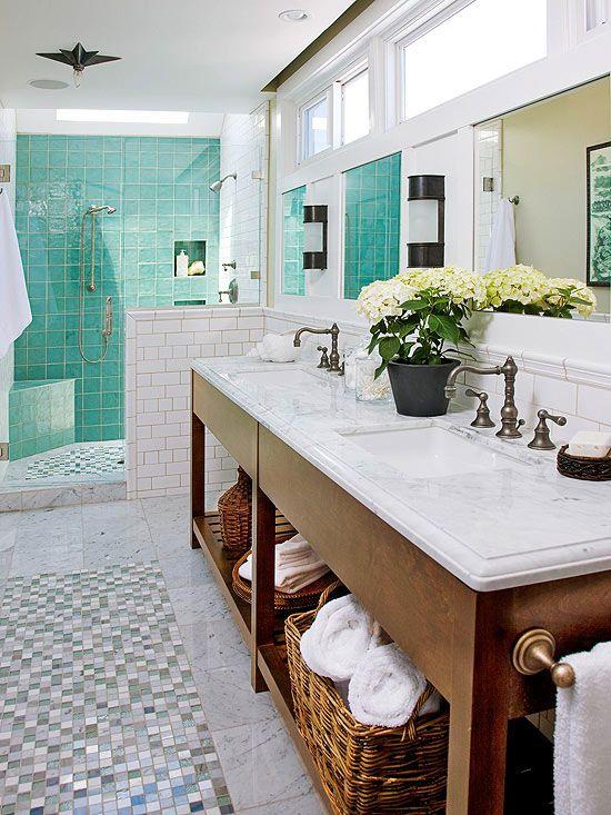 Baño Azul Decoracion:Manualidades, decoración, pintura: Baño azul y blanco