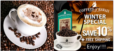 Coffees of Hawaii Sale-10% off+Free Shipping