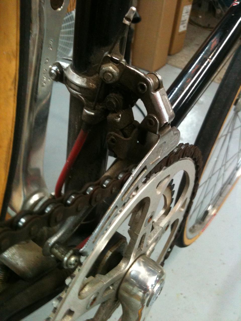Schwinn Derailleur Parts : John s bicycle restorations my mom schwinn super letour