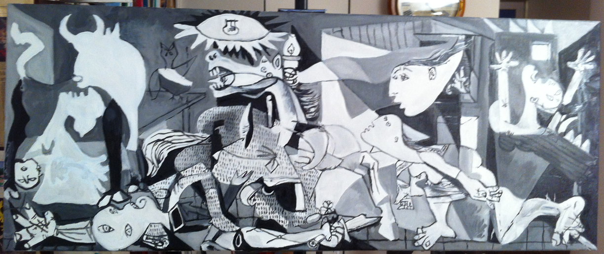 Brendan tobin fakes and forgeries class guernica 04 for Mural guernica