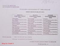 Programme de la 5eme année (2011/2012)