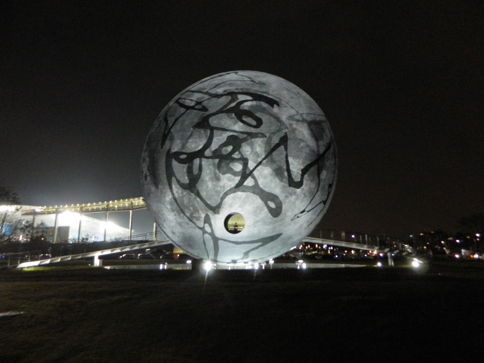 Moon Art at the Asian Games main Stadium