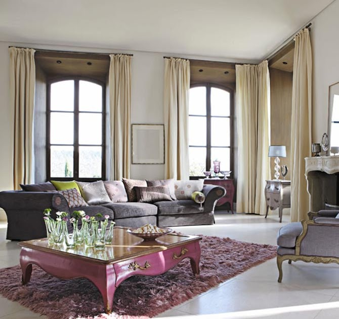 Modern Furniture: Luxury Living Room Curtains Photo