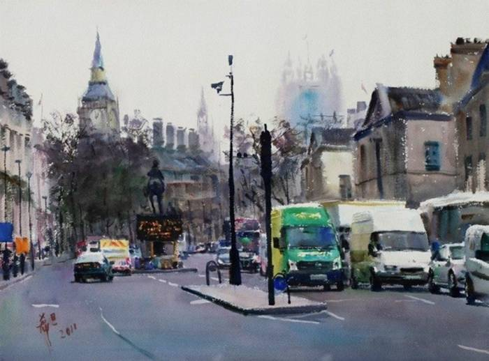 """Xidan Chen «On the streets of London»"""""""