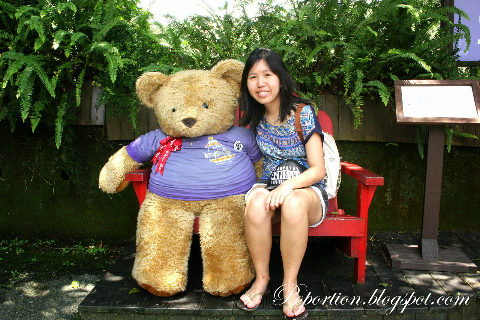 huge teddy bear lavender cottage
