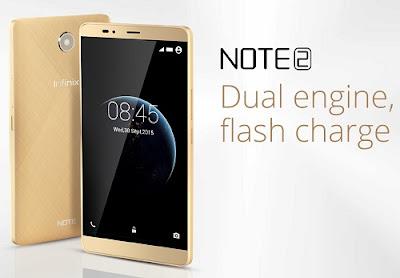 Infinix Note 2, Octacore dengan fitur Fast Charging