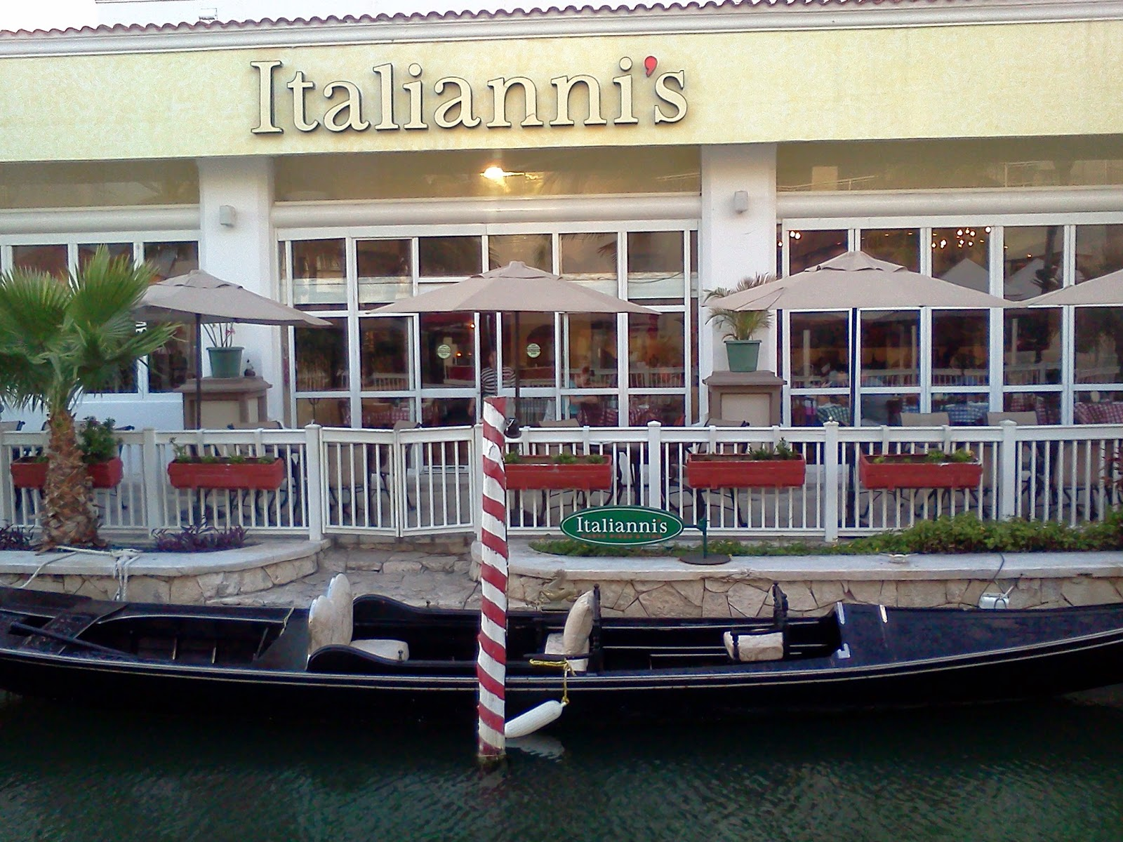 Gondola Boat in front of Italiannis