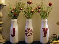 garrafas reutilizadas decoracao de natal