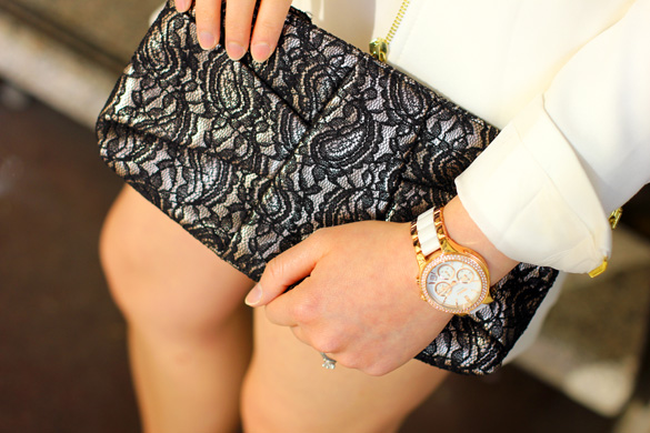 Forever New Lace Clutch