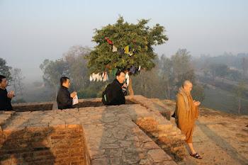 Gambar Bhante Candasilo Thera berada di Sravasti