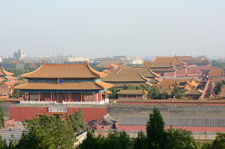 Main halls in the Forbidden City as seen from Jingshan Park