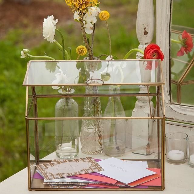 Glass Terrarium Wedding Card Box