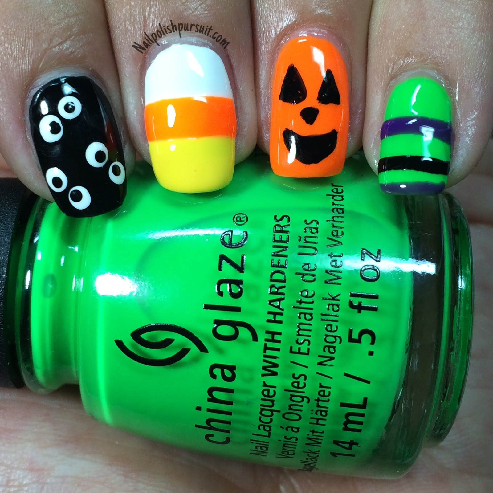 KellieGonzo: Guest Post by Nail Polish Pursuit: Halloween Nail Art + ...