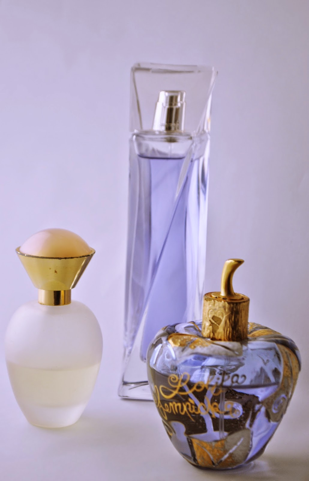 A picture of Lancome, Avon and Lolita Lempicka perfumes