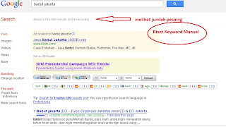 riset keyword secara manual