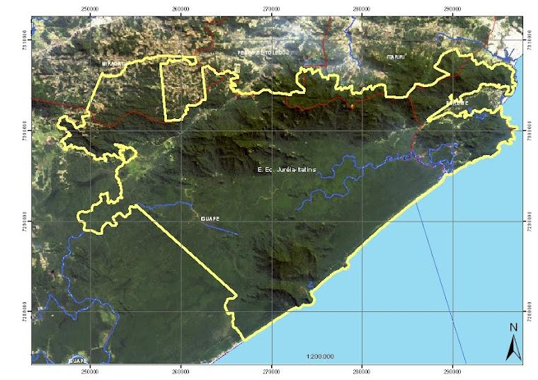 Mapa da Juréia