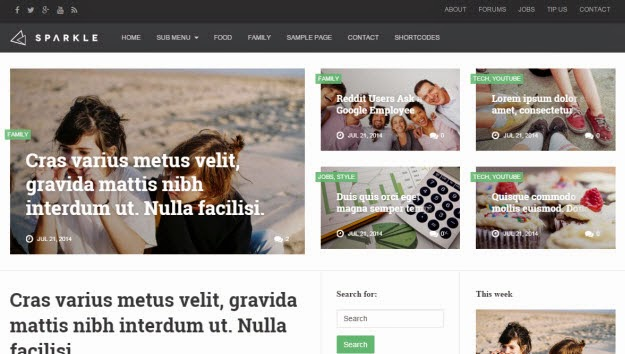 News/Magazine Drupal theme