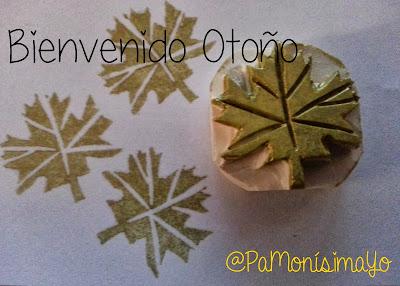 Sello hoja otoño @pamonisimayo