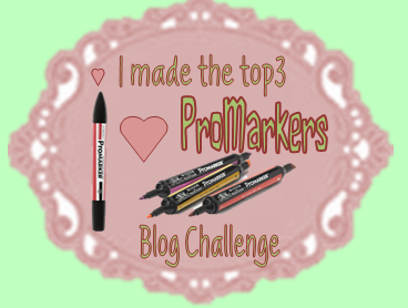 Top 3 at I ♥ ProMarkers Challenge