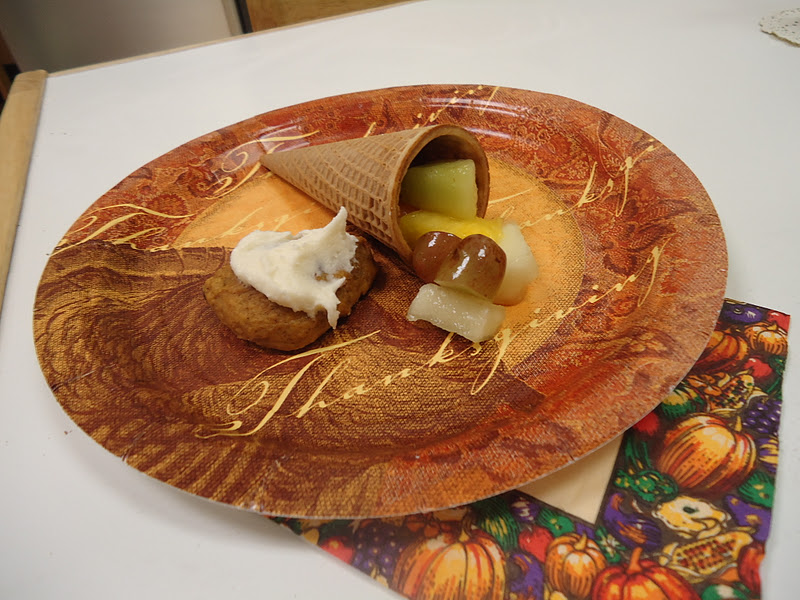 "Our 'Thanksgiving Gratitude Snack', AKA ""Cornucopia Snack!"""