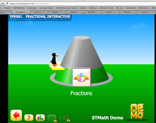 screen shot of the demo ST Math demo game