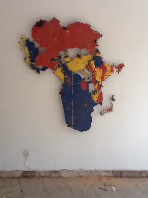 Big art installation at our coworking space in Kigali, Rwanda