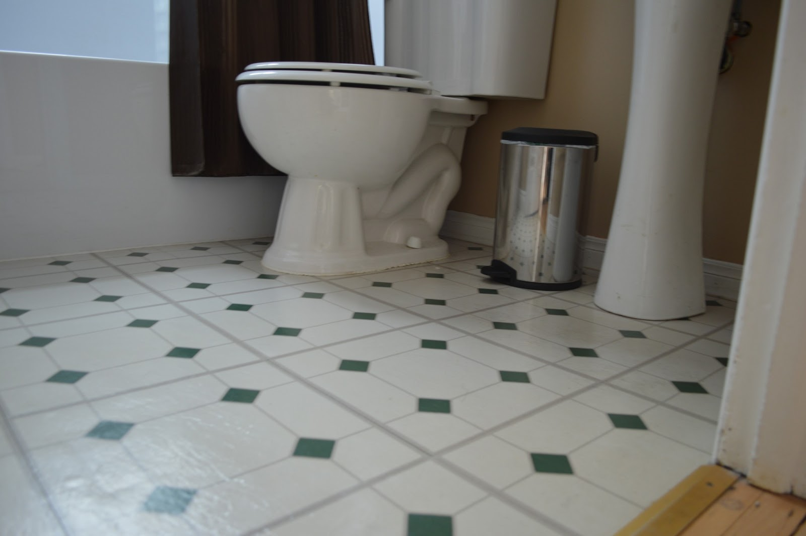 This Kind Handyman And I : When Your Tile Grout Turns White, This May  Work... {Bathroom Progress}