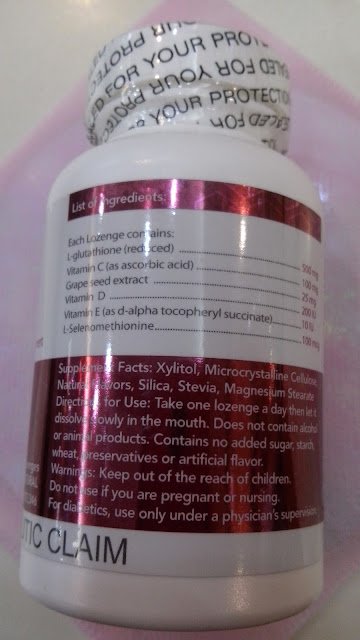 Thiocell contains Thione complex Inside - 500 mg L-Glutathione,  Vitamin C, Selenomethionine. Ingredients-