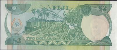 Fiji 2 Dollar 1995 P# 90