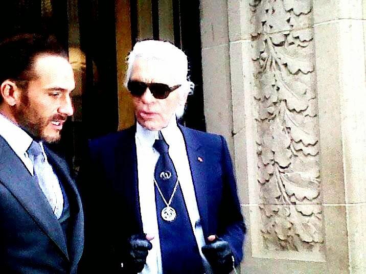 Sébastien Jondeau with Karl Lagerfeld