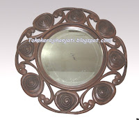 Cermin Hias Kayu Jati