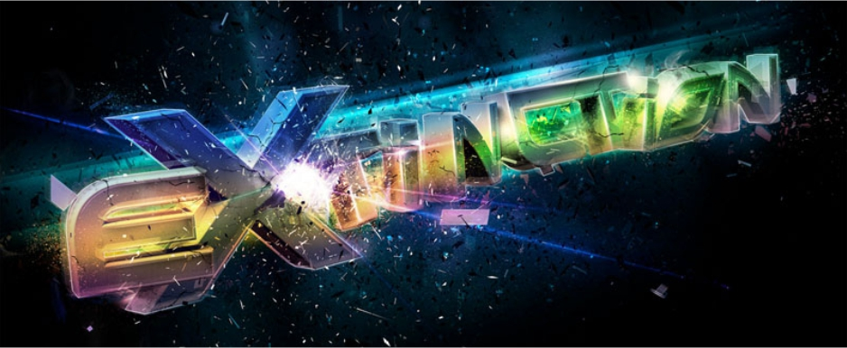 Amazing 3D Space Text Effect
