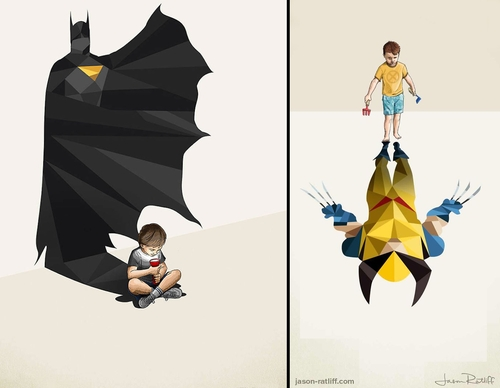 00-Jason-Ratliff-Comic-Book-Heroes-in-Super-Shadows-Illustrations-www-designstack-co