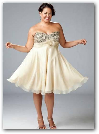 Gorditas en vestidos cortos