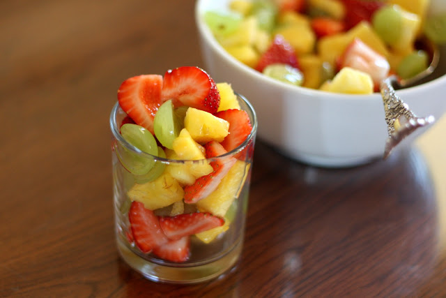 Honey Lime Summer Fruit Salad recipe by Barefeet In The Kitchen