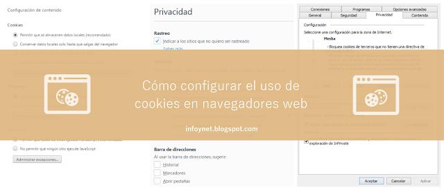 Cómo configurar el uso de cookies en navegadores web
