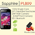 Cherry Mobile Sapphire — Affordable 3G Android Phone at Php1,899