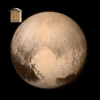 shed around Pluto