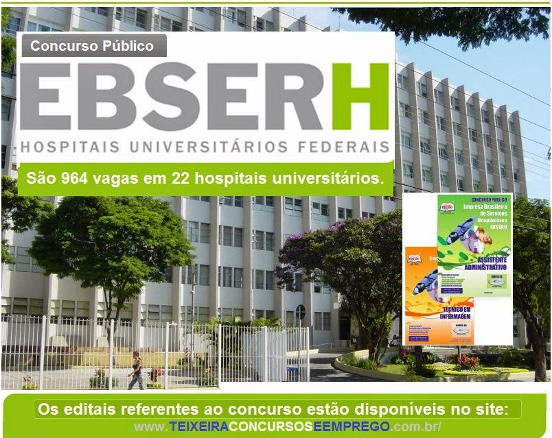 Apostila Ebserh Concurso Público Nacional para Hospitais Universitários - 2015.