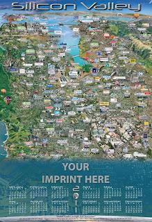 Карта Силиконовой долины (Silicon Valley map)